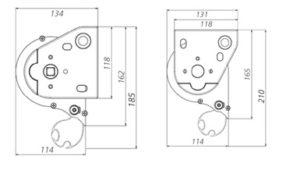 Toldo vertical-box dimensiones con cofre